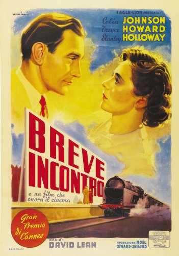 Brief Encounter Poster Italian 27x40 Celia Johnson Trevor Howard Stanley Holloway