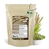 nur.fit by Nurafit BIO Weizengras Pulver 500g - rein natürliches Pulver aus Weizengras ohne Zusatzstoffe aus deutschem Anbau – Bio zertifiziertes Green-Smoothie-Pulver in Rohkostqualität