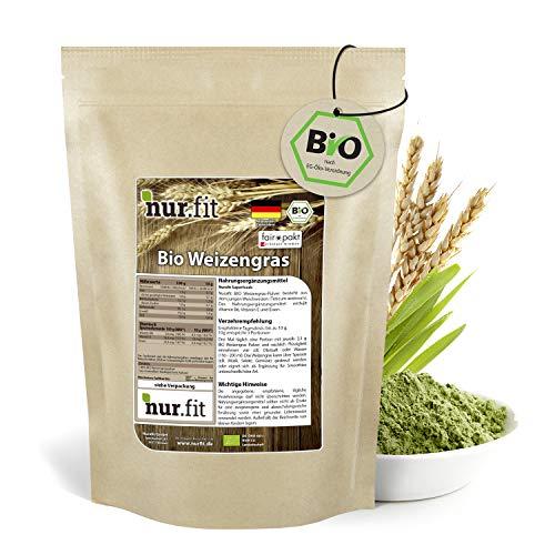 Nurafit | BIO tarwegraspoeder | Gemaakt in Duitsland | Vegan superfood | 250g