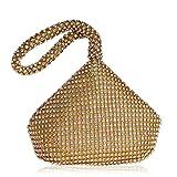 Bolsos Mujer Bolsos De Noche para Mujeres Mini Bolsos De Mano Damas Monedero Pequeño Banquete De Boda Elegantes Bolsos De Diamantes De Imitación Oro