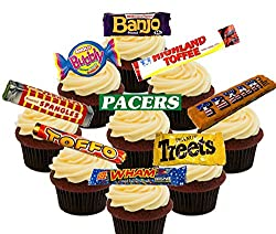 Retro British Sweets Edible Cupcake Toppers