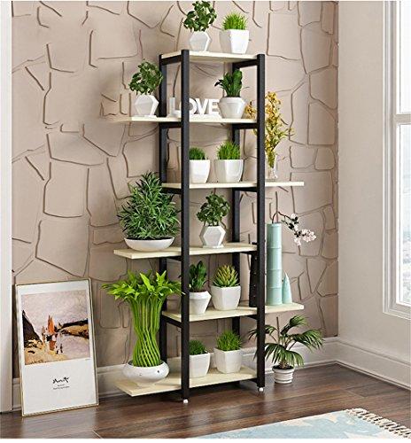 HYXI-Étagère pour plantes Support de fleur de fer de 6 rangées/supports de fleur pour le balcon de salon et étagère en métal d'intérieur/extérieur permanent présentoir de bonsaï Pot de coin de pot