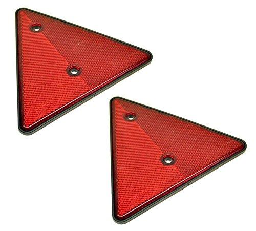 Bits4Reasons Neues Modell Classic Paar Rot Reflektor Dreieck für Wohnwagen Tor Pfosten Trailer Boards und Wände – Made in England