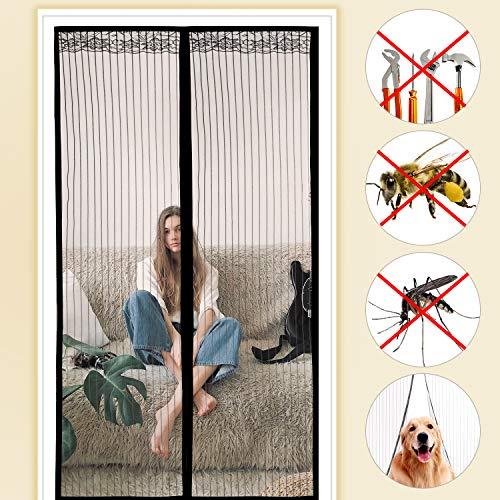 moinkerin Mosquitera Puerta Magnetica Cortinas Mosquiteras para Puertas Mosquiteras Magneticas para Puertas, Ventilación de Verano Mantener Alejado de Mosquitos Insectos