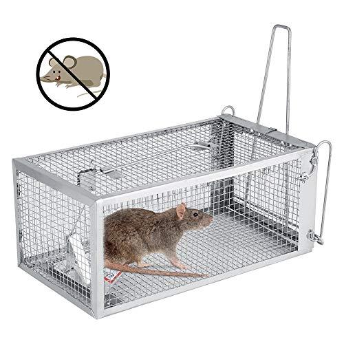 Mäusefalle aus Draht, Lebendfalle für Mäuse und Ratten Lebendfalle Mausefalle, Rattenfalle Wiederverwendbare Rattenfalle Tierfalle Set, ua Hasen & Hamster, Mehrfach, Lebend, Jagd, Käfig, Aussen