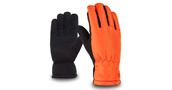 MMPY Autumn and Winter Mens Warm and Windproof Touch Screen Down Wind Cotton Riding Gloves