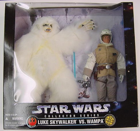 12 inches Kenner Star Wars Luke Skywalker Vs Wampa Action Figure Set