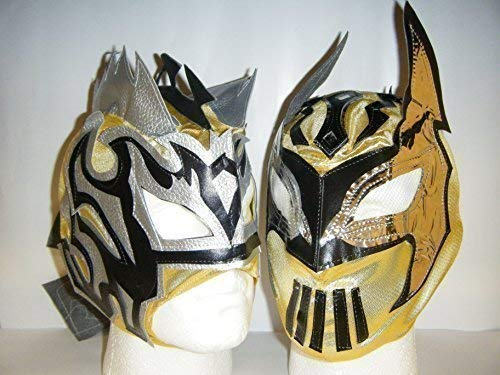 Kalisto Sin Cara Lucha Dragons Wrestling Tag Team Kinder Reißverschluss Masken