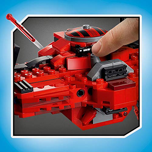 LEGO 75240 Star Wars Major Vonreg's Tie Fighter Starship Set with a Special Black and Red Colour Scheme from Resistance TV Series