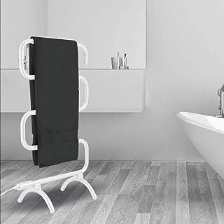 XSGDMN Barra de Toallas para Colocar en el Suelo, riel de Toallas con calefacción Radiador Temporizador Incorporado Interruptor de un Solo Toque Fácil de Mover Hogar Toallero de Secado Blanco