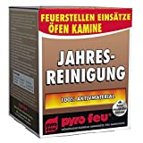PYRO FEU 24621-12 Deshollinamiento anual para chimeneas 3 x 250 gr, Rojo