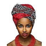 Yijinstyle Turbante Bufanda de Impresión Ethnic Pañuelo Headwrap de Colores Brillantes Africana para Mujer (Style#5, 50 * 180cm)