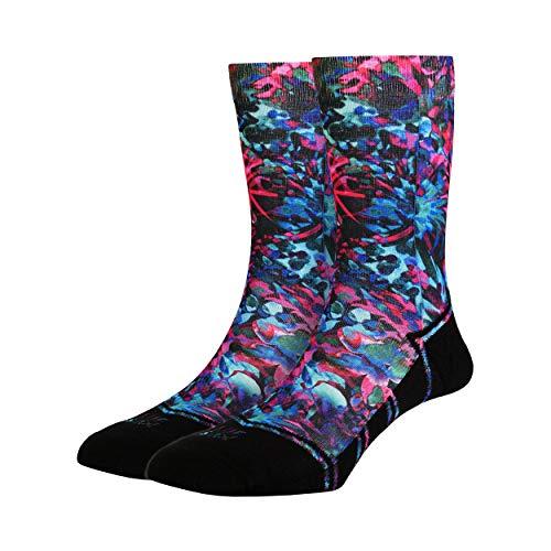 LUF SOX Classics Coral Flower - Socken für Damen und Herren, Unisex-Größe 36-40 und 41-46, mehrfarbig, Ferse und Fußspitze leicht gepolstert