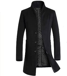 Men Long Trench Coat | Men Hide Button Jacket | Men Business Smart Jacket Coat Outwear by Lowprofile