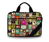 Luxburg® Design gepolsterte Business- / Laptoptasche Notebooktasche 13,3 bis 14,2 Zoll mit Schultergurt, Mehrzwecktasche, Motiv: Patchwork