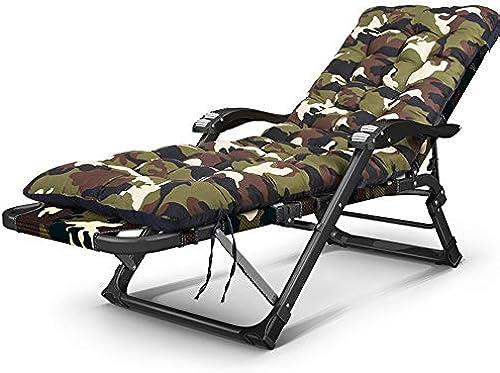 Klappbarer Lehnstuhl, breiter faltender Verstellbarer Mittagspause tragbarer Büro-Nickerchen durch Stuhl-Rückseiten-Balkon-Loungesessel, 15 Gang-Anpassung Freizeitstuhl