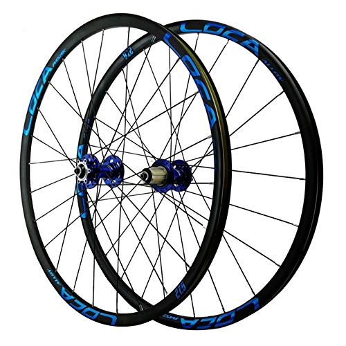 Ciclismo Wheels,26/27,5/29 Pulgadas Pared Doble Freno De Disco Ruedas Ciclismo De Montaña 7/8/9/10/11/12 Velocidad Deportes (Color : Blue, Size : 26in)