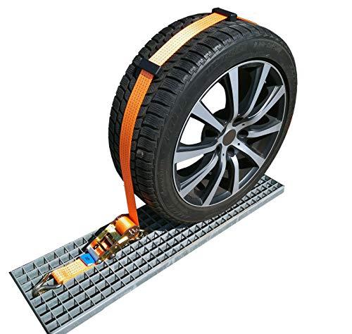 NTG 4X 50mm Spanngurt Auto Transport Zurrgurt Radsicherung PKW Reifengurt