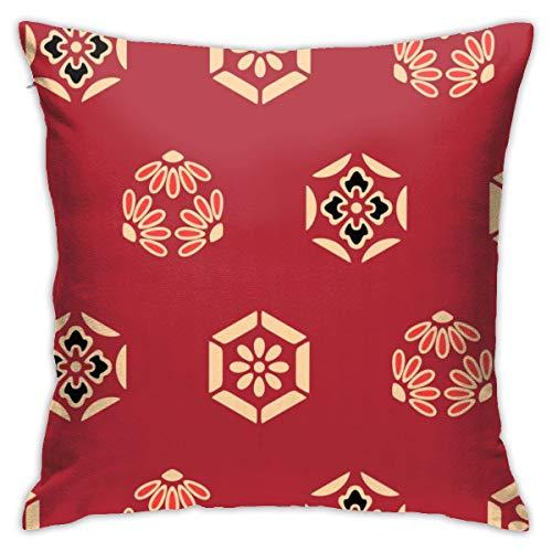 Moshow Pillowcases Cushion Covers decoration Bark Japanese Hexagon Flower Art on the Sofa car bed 45X45 CM