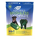 Ark Naturals Brushless Toothpaste, Dog Dental Chews for Large Breeds, Vet Recommended for Plaque, Bacteria & Tartar Control, 1 Pack