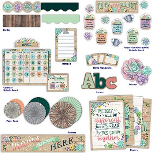Teacher Created Resources Rustic Bloom Classroom Kit (32404)