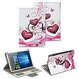 NAUC Schutz Hülle für 10-10.1 Zoll Tablet Tasche Schutzhülle Case Cover Bag, Motiv:Motiv 2, Tablet Modell für:Medion Lifetab X10300
