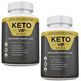 Keto VIP Fuel - Natural Weight Loss Supplement - W Metabolic Ketosis Support - 2 Month Supply - 120 Capsules - 800MG