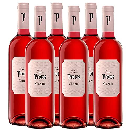 Vino Rosado Protos Clarete Cigales de 75 cl - D.O. Ribera del Duero - Bodegas Protos (Pack de 6 botellas)