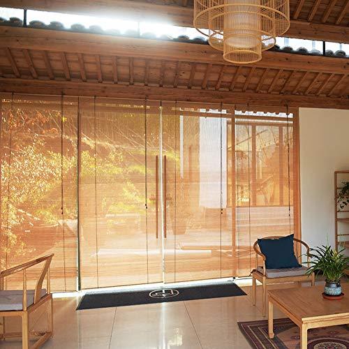 Lqdp Rollo Rollos Rollläden im Japanischen Stil für Innenfenster, Staubdichter Bambusvorhang für Die Restaurantgalerie, 60cm/80cm/100cm/140cm Breite (Color : WxH, Size : 60x80cm)