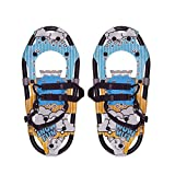 HUWENJUN123 Lightweight Terrain Snowshoes for Youth Kids, Aluminum Alloy Snow Shoes with Adjustable Bindings and Carrying Tote Bag, 16'