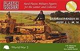 German Panzer III Ausf. J,L,M,N (x 3 Tanks) - 1:72 Kit by Plastic Soldier Company by Plastic Soldier Company