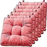 TYHZ Cojines para Sillas Cojines para sillas de Comedor, Almohadilla de Silla de Comedor de 4 Pack, Cojines para sillas Acolchadas, Cojines de Asiento Suave con vínculos Cojines sillas Comedor