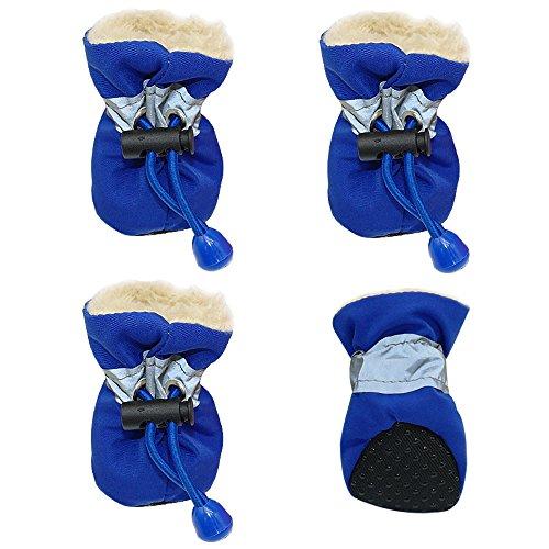 Scarpe Antinfortunistiche Autunno E Inverno più Velluto Caldo Antiscivolo Stivali Strisce Riflettenti di Sicurezza Elastico Rosso Giallo Blu Misto 12 Pezzi S L M [Colore Casuale],S=4 * 3Cm
