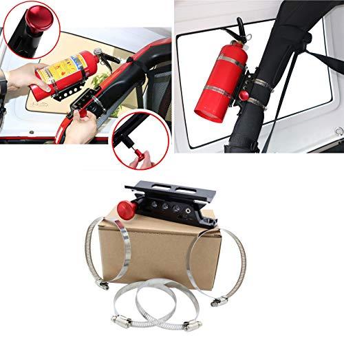 Quick Release Adjustable Fire Extinguisher Holder Mount Bracket for Jeep Wrangler UTV Polaris RZR Ranger Camper Van with Pillar