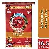 Purina ONE Dry Dog Food, SmartBlend Chicken and Rice Formula, 16.5 Lb Bag