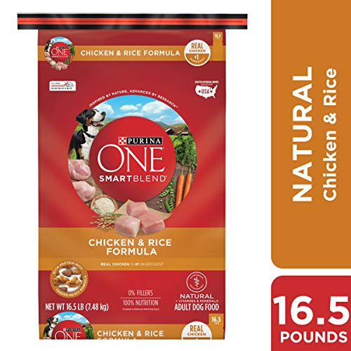 Purina ONE Dry Dog Food, SmartBlend Chicken and Rice Formula, 16.5 Lb Bag