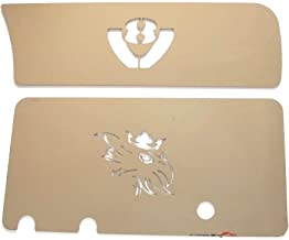 TRUCKDANET Accessori in acciaio inox Scritta Super 30 cm x 4 cm