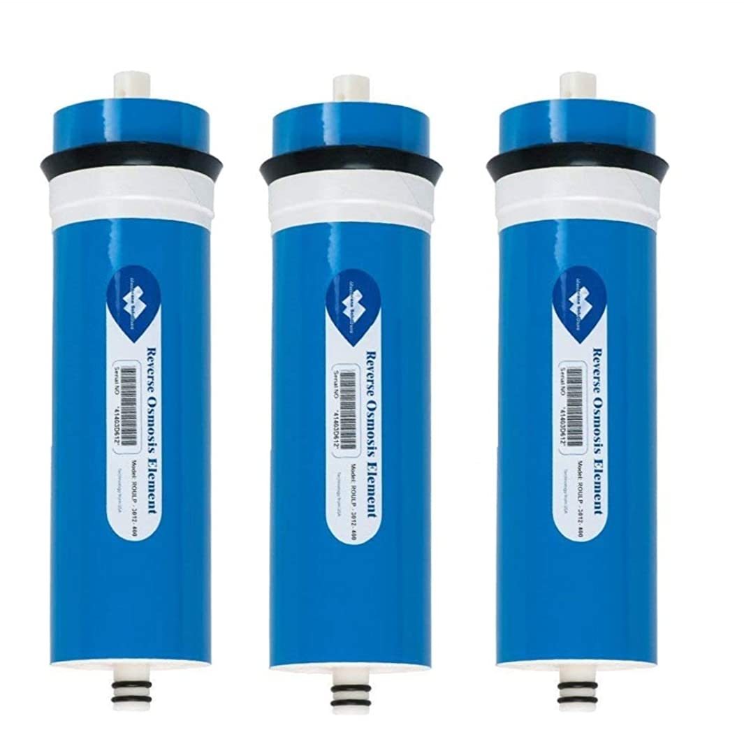 3 X 400GPD Reverse Osmosis Filter Membrane Element, 400 GPD RO Membrane Water Filter Replacement RO Systems 400 Gallons per Day
