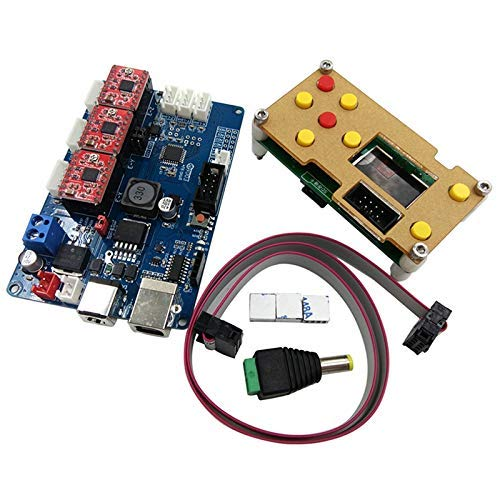 BXU-BG GRBL Offline Working Controller LCD Screen+3 Axis Control Board for Engraving Machine Wood Router