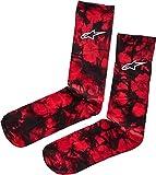 Alpinestars Unisex-Socken für Erwachsene, Batik-Optik, Rot, Größe XL (Mehrfarbig, Einheitsgröße