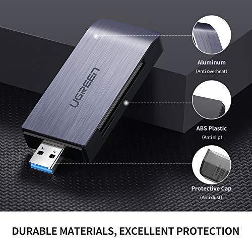 UGREEN USB 3.0 Kartenleser für SD, CF, Micro SD und MS USB Card Reader mit gleichzeitiger Auslesung von mehr Karten Cardreader für CF, SD, SDHC, SDXC, Micro SD, Micro SDHC, Micro SDXC, MS usw