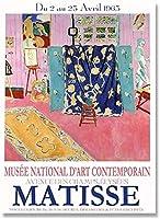 マティスポスター展ポスタープリント有名なウォールアート北欧ヴィンテージキャンバス絵画マティスの写真リビングルームギャラリーの装飾40x60cmフレームなし