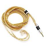 Linsoul Tripowin Zonie - Cable para auriculares (16 núcleos), color plateado