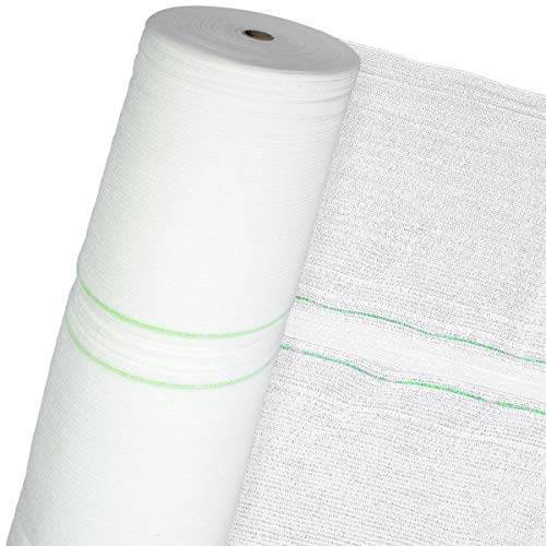 HaGa - Schattiernetz (Meterware) - 3 m Breite in weiß - 60% Schattierwert und 60 g/m² - Sonnenschutzgewebe