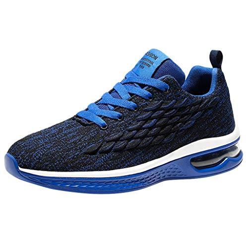 Zapatos de hombre JiaMeng-ZI Malla Transpirable Ligero Zapatos Deportivos Colchón de Aire Altamente Elástica Outdoor Corriendo Zapatillas Antideslizante Resistente al Desgaste Zapatos para Tenis
