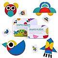BBLIKE Tangram Madera, 36 Montessori Puzzle de Madera + 60…
