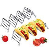 2 Pack Taco Holder Stand Stainless Steel Taco Rack Tray Serveware Tabletop Party