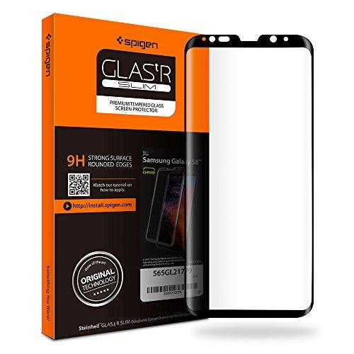 Spigen Vetro temperato Samsung Galaxy S8, Full-Cover, proteggischermo Trasparente, Pellicola Galaxy S8, Protezione per Schermo (565GL21779)