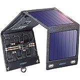 ソーラーチャージャー 16W 2USBポート+12V DC VITCOCO ソーラー充電器 ソーラーパネル 4枚ソーラーパネル 折りたたみ式 太陽光発電 iPhone、Android 各機種対応 ソーラーパネル 災害/旅行/アウトドアに大活躍