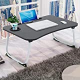 Bed Desk with Cup Holder, Mini Laptop Desk, Portable Computer Tray for Bed, 2021 Laptop Small Desk, Bed Tray for Bed and Sofa with Inner Storage Space